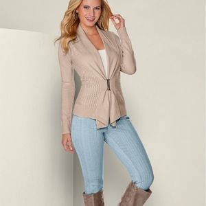 Sweaters - Buckle front cardigan